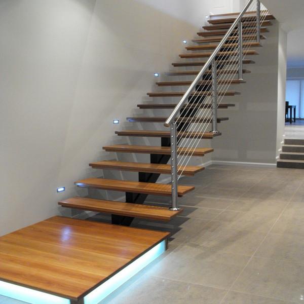 Single Stringer Modern Design Interior Painted Wood ...