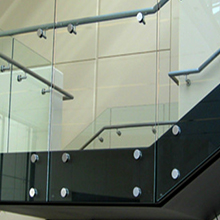 Tempered Glass Interior Stairs Railing Designs with Standoff PR-B68