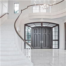Double entrance swing solid wooden door, door price