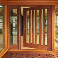 Outside swing solid wooden glass door