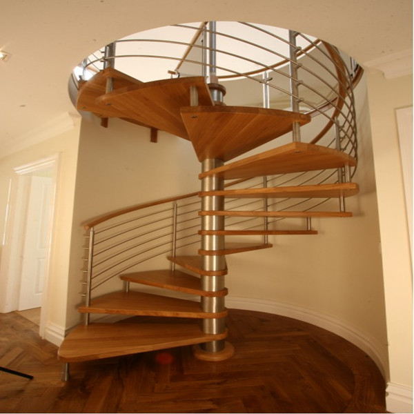 Customized wooden step spiral staircase PR-S03