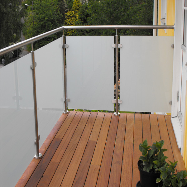 Safe&Solid SS Glass Railing Balcony Frameless Glass ...