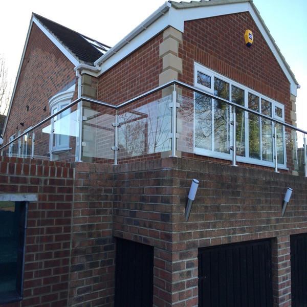SS Glass Railing Design Glass Balcony Railing