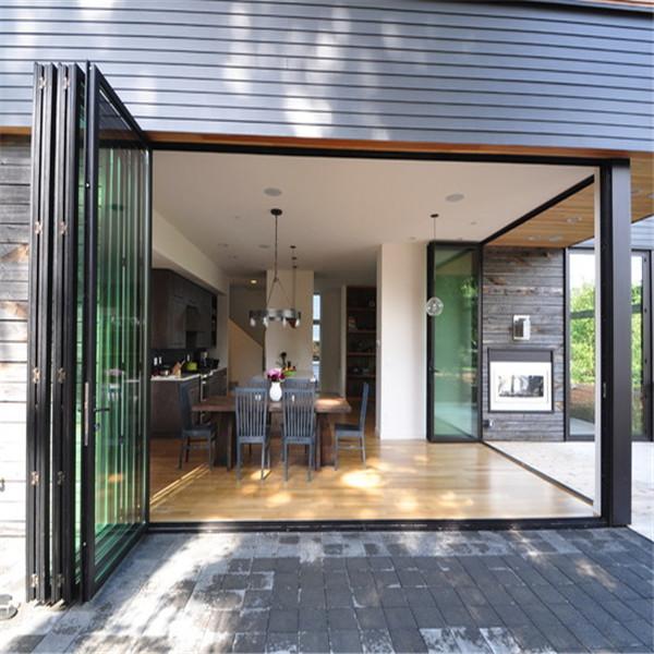 Aluminum Folding Door Glass Folding Door Stacking Sliding
