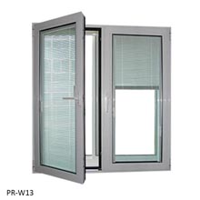 Wholesale tempered glass window with inside screen