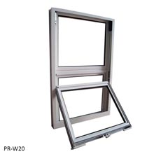 Tempered glass single hung window