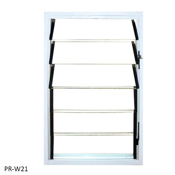 Tempered glass louver fixed window