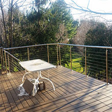 New York Exterior Decking Stainless Steel Cable Railing Project