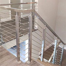 Solid Stainless Steel Rod Railing For American Client's House