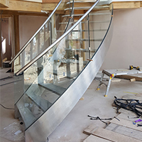 UK Glass Curved Staircase Project