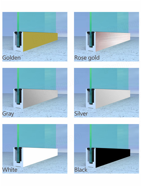 Colorful Aluminum Channel Base for Deck Glass Railing